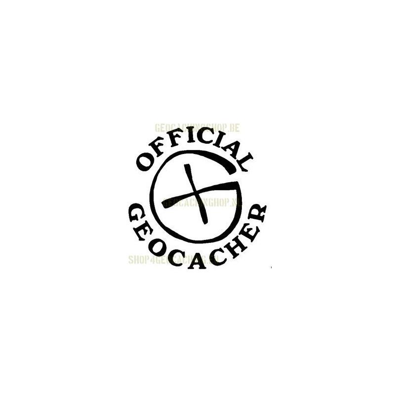 Official Geocacher Sticker 7,5 cm wit
