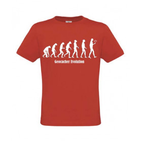 Geocacher Evolution T-Shirt rood
