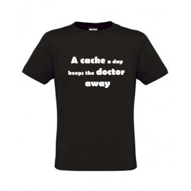 A cache a day, T-Shirt (zwart)