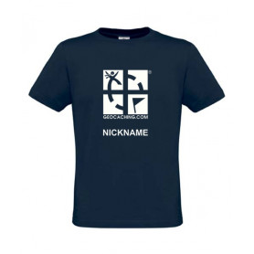 Groundspeak Logo, T-Shirt with teamname (blue)