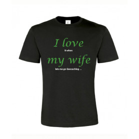 I love my wife, T-Shirt (zwart/groen)