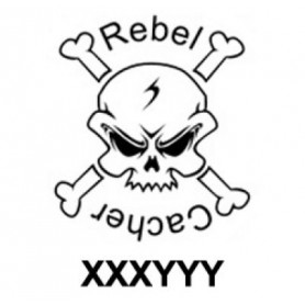 Rebel Cacher trackable sticker