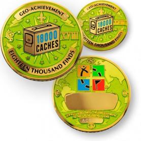 Finds - 18.000 Finds Geo-Achievement ® set