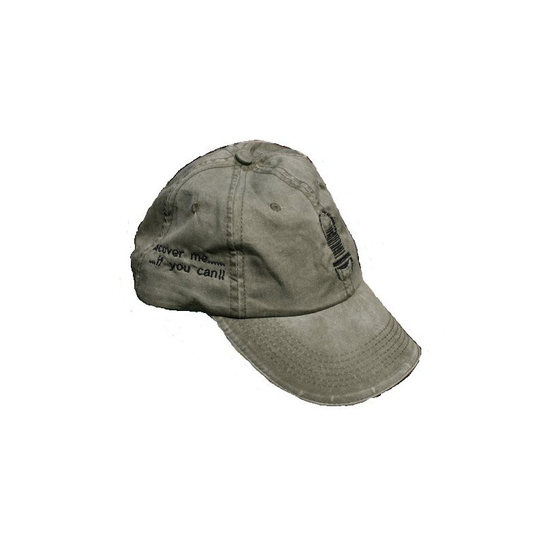 Travel Cap - green with black