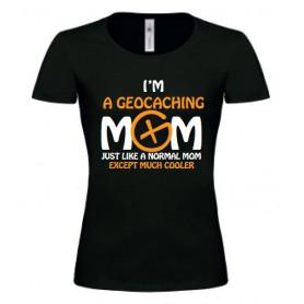 T-Shirt Geocaching Mom vrouwen