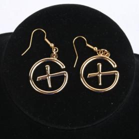 Geocaching - Earrings - pendant - goud