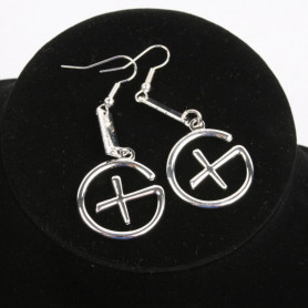 Geocaching - Earrings - pendant trackable - silver