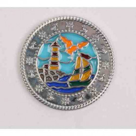 Boat-Lighthouse  Suncatcher Polished Zilver XLE