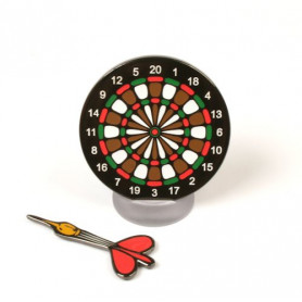 Dartboard Geocoin black nickel