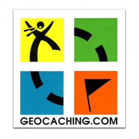 Geocaching-Aufkleber, 4-farbig