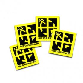 Mini sticker 4 pack yellow 2 x 2 cm