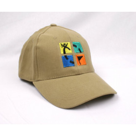 Hat, khaki with geocaching logo