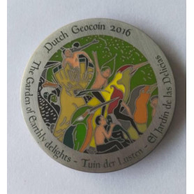 Dutch Geocoin 2016 - Antique silver - LE - Jeroen Bosch