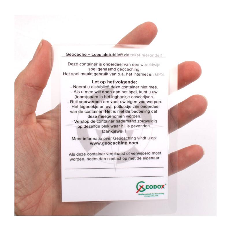 Geocaching uitlegkaartje - Stashnote (Nederlands)