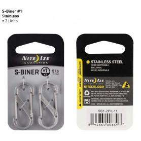 S-Biner maat 1 - 2 pack