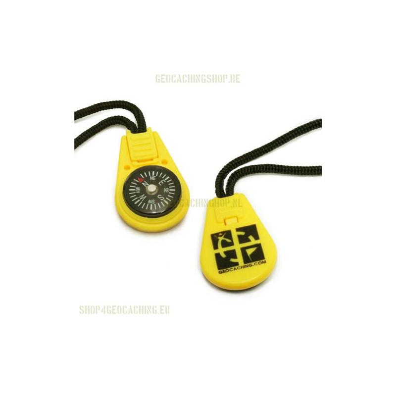 compass zipper pull