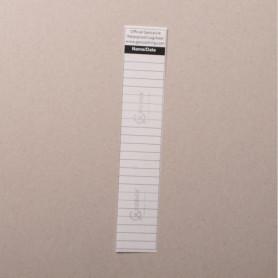 Logsheet watervast 2,5 x 13,5cm, 1 vel