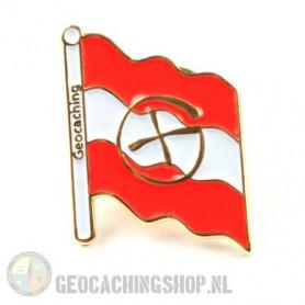 Pin flag Austria - gold
