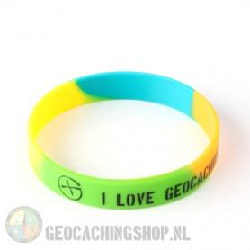 Wristband - I Love Geocaching multi color