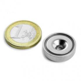 1 pc 20 mm Round Countersunk Neodym Magnet