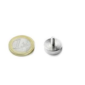 1st 16 mm Rond met schroefdraad Neodym Magneet