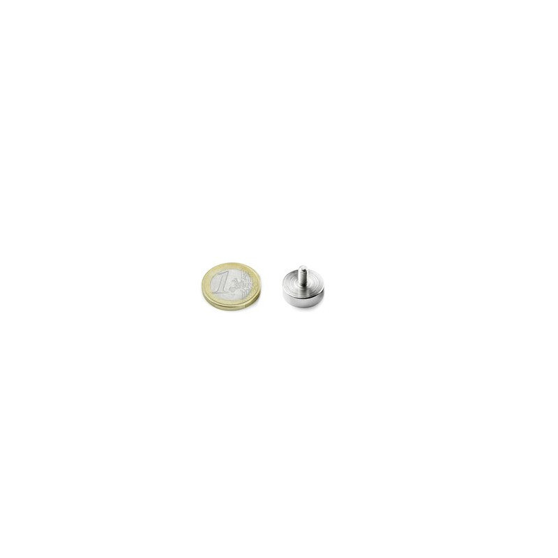 1pcs 16 mm Round with setscrew Neodym Magnet