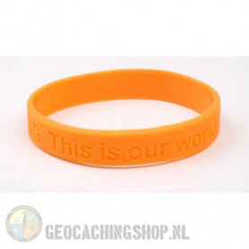 Wristband - Geocaching, this is our world - orange