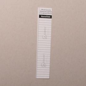 Logsheet watervast 2,1 x 11 cm, 1 vel