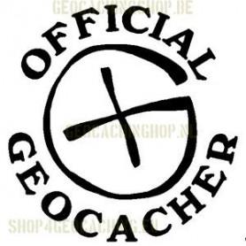 Official Geocacher Sticker 7,5 cm black
