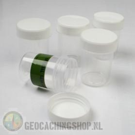 Micro container 40 ml white cap, 5 pcs