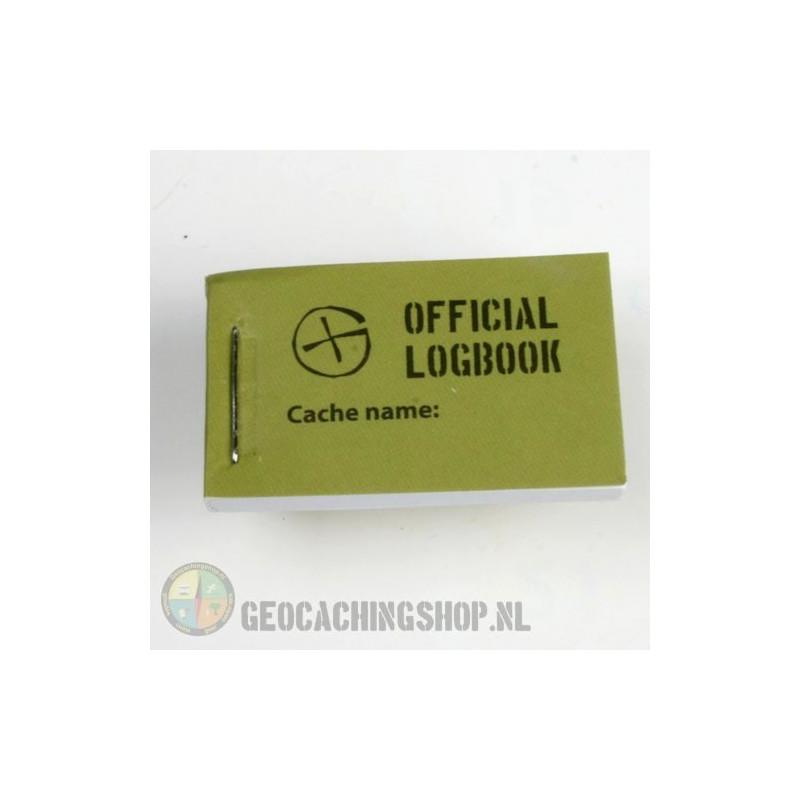 Logbook Green Geocaching, 25x40mm, 200 logs