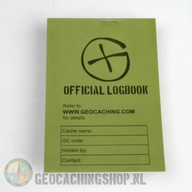 Logboek Green Geocaching, 115x80mm, 100 pag.