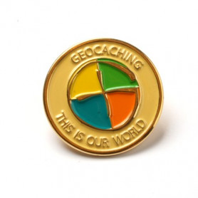 Pin - Geocaching: This is our World, gold