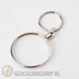 Coin ring Silver 45mm