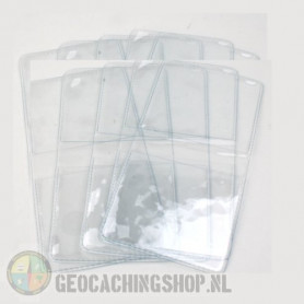 Geocoin vinyl pouches, 10 pcs