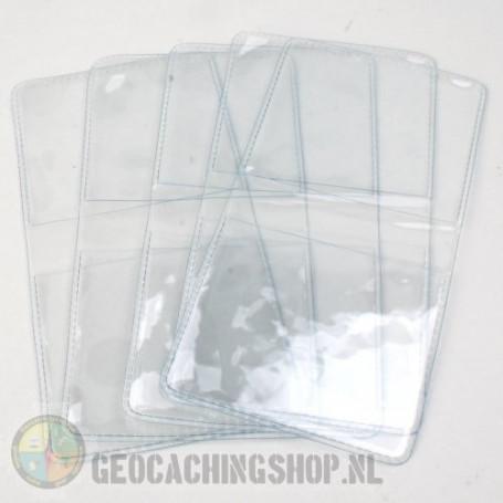 Geocoin vinyl pouches, 5 pcs