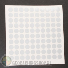 Reflector folie - 100 x rondje - wit/zilver