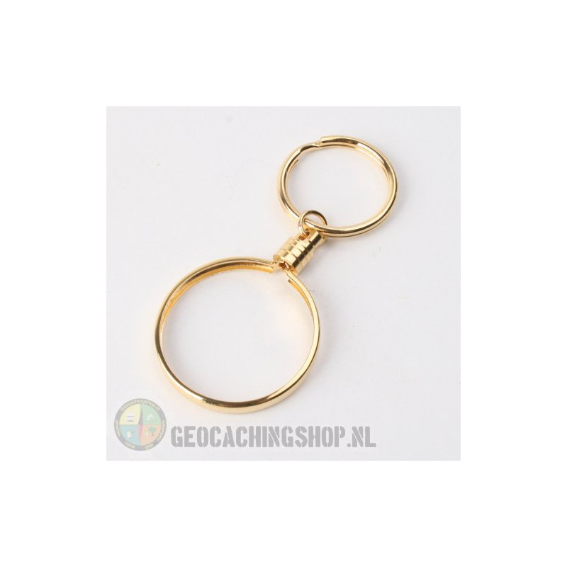 Coin ring Goud 38mm