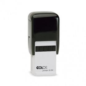 Log stempel - Printer - 24x24 mm - Eigen tekst/logo