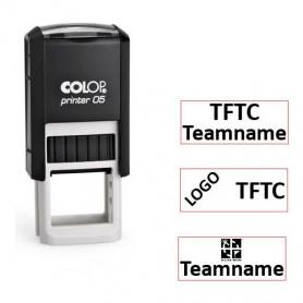 Log stamp - Printer - 6x15 mm - Own text/logo