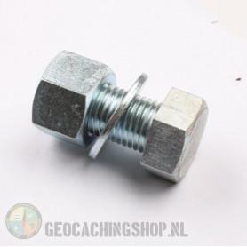 Mega bolt cache container - silver