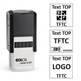 Log stempel - Printer - 20x20 mm - Eigen tekst/logo