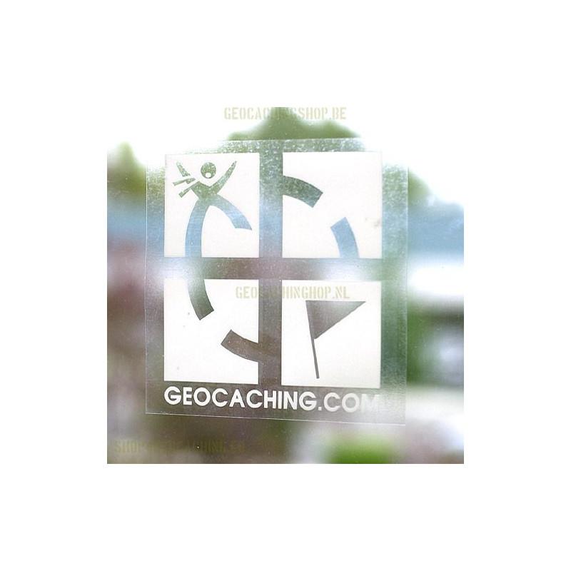 Raam sticker (binnenkant) logo wit 12.5 x 12.5 cm