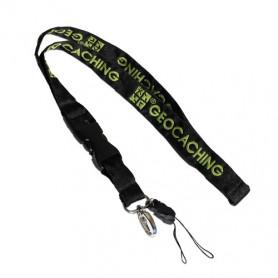Keycord Groundspeak zwart/groen