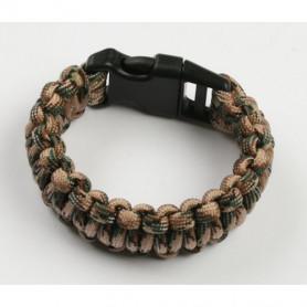 Paracord armband - Camo bruin - L