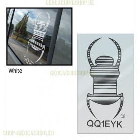 Travel bug - Sticker - 20 cm - White, decal