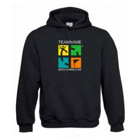 Groundspeak Logo hoody with Teamname (color)