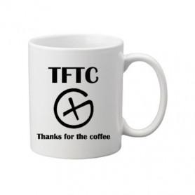 Coffee + tea Mug: Thanks for the Coffee
