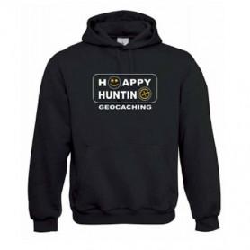 """Hoody """"Happy Hunting"""" geel"""
