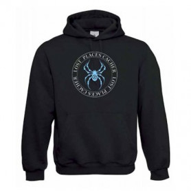 """Hoody """"Lost Places"""" - spider blue"""